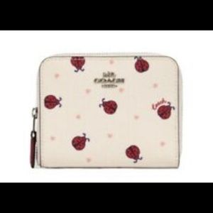 Coach Ladybug small zip wallet